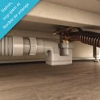 Siphon plat et flexible 40mm fournis pour un raccordement facile