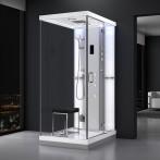 Cabine douche hammam URBAN 120x90cm (version droite) avec verres blancs sur 1 côté
