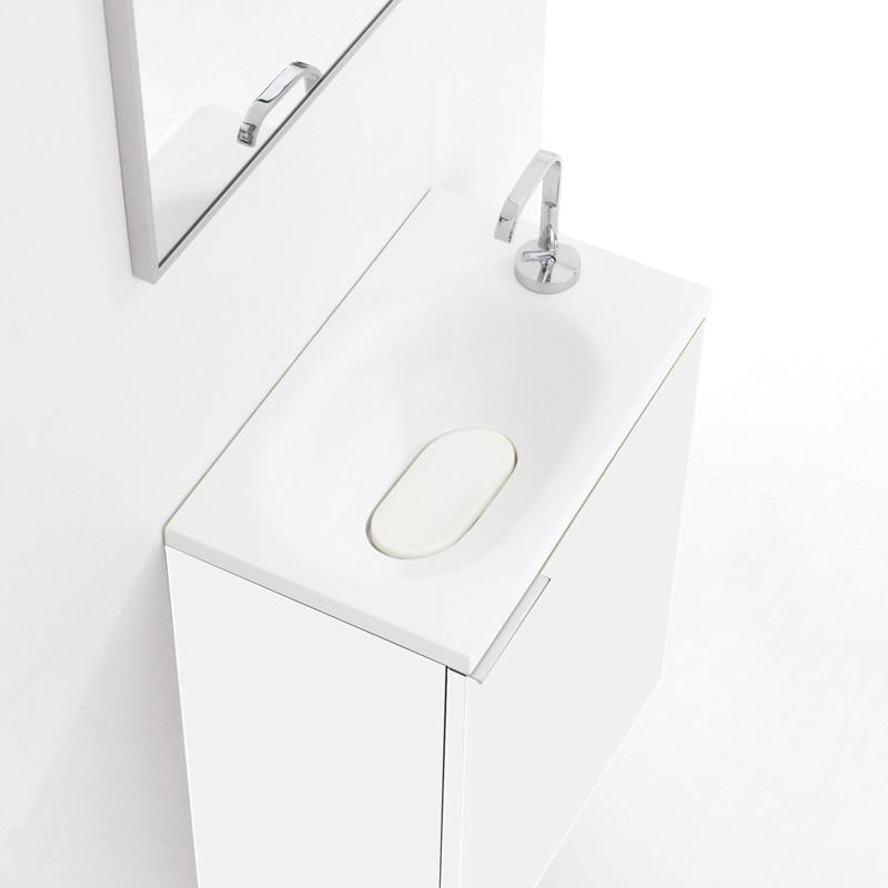 Meuble lave-mains 50 cm FLYER blanc laqué