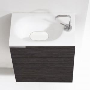 Meuble lave-mains 50 cm FLYER gris