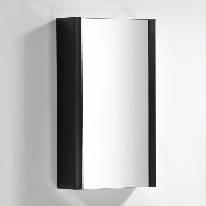 Miroir salle de bain KELLY 45x80 cm finition Nero