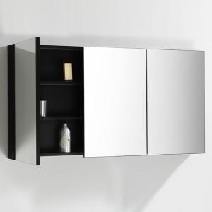 Miroir salle de bain TWIN 135x70 cm finition Noir laqué