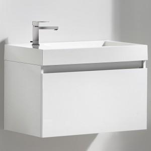Meuble salle de bain 80 cm GINGER blanc laqué