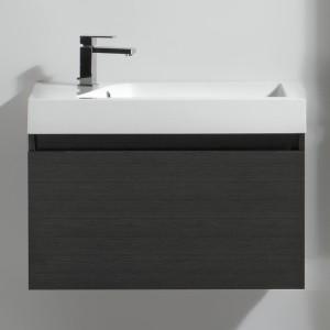 Meuble salle de bain 80 cm GINGER gris