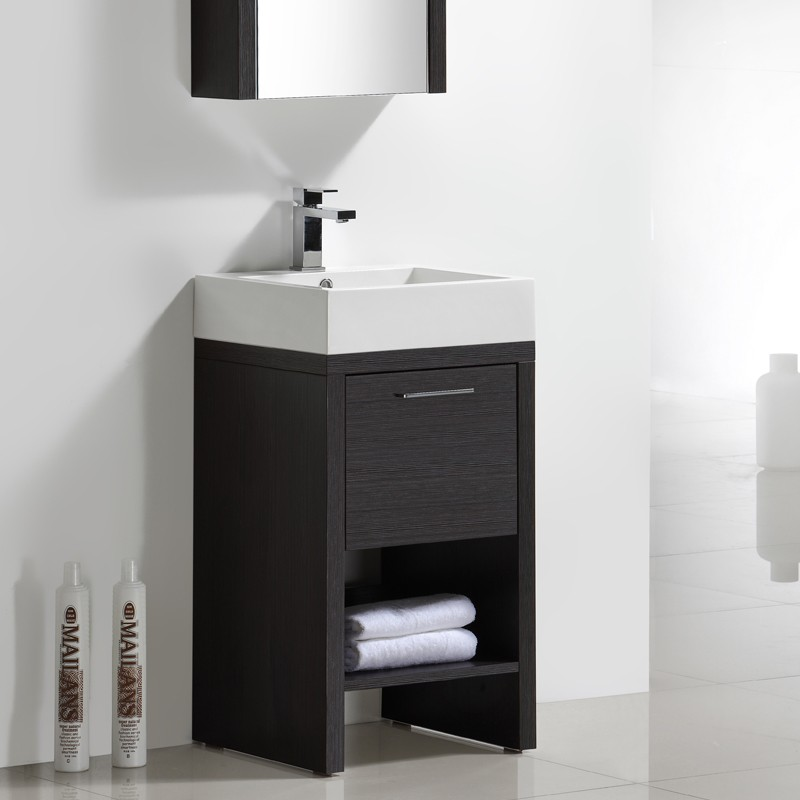 Meuble salle de bain 45 cm KELLY gris