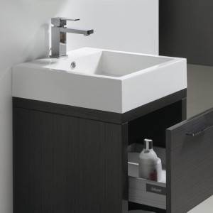 Vasque en marbre de synthèse avec trop-plein