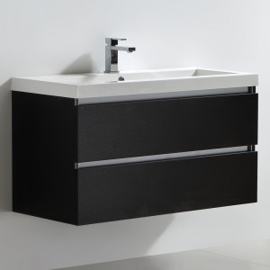 Meuble salle de bain 100 cm CITY noir