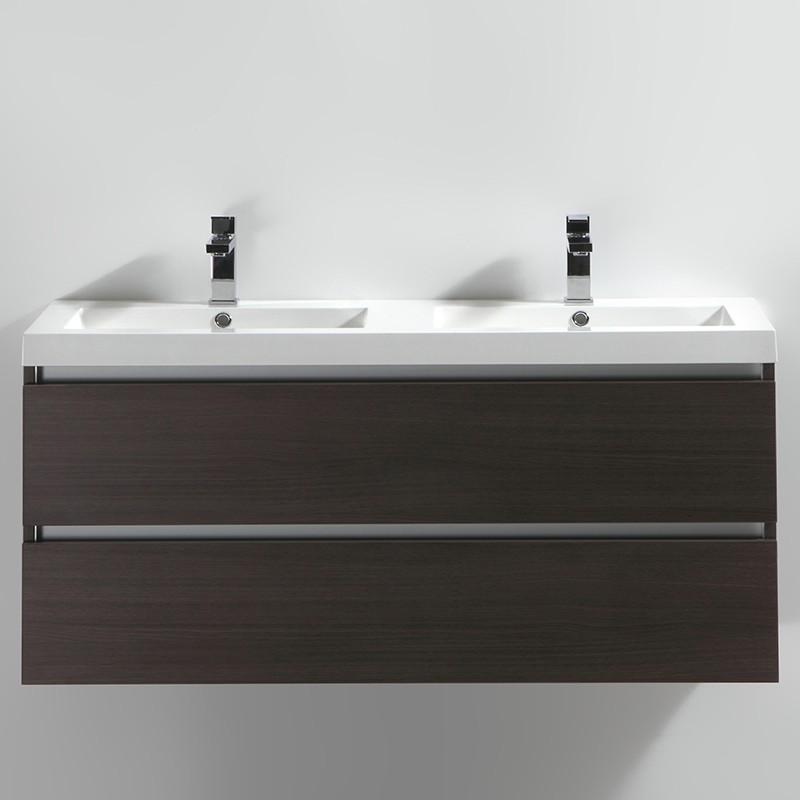 Meuble salle de bain double vasque 120 cm CITY bois