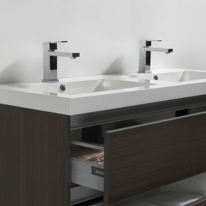 Vasques en marbre de synthèse blanc avec trop-plein