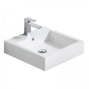 Vasque KELLY 45 x 45 cm avec bonde pop-up et trop-plein
