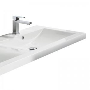 Vasque TWIN 144 x 51 cm avec bondes pop-up et trop-plein