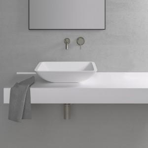 Vasque carrée LAKE 42 en Solid Surface