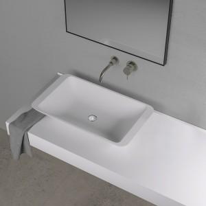 Vasque rectangulaire LAKE 60 en Solid Surface