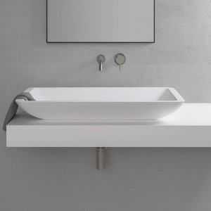 Vasque rectangulaire LAKE 80 en Solid Surface