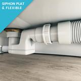 Siphon plat et flexible pour un raccordement aisé