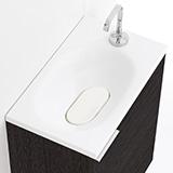 Meuble lave-mains avec vasque compacte