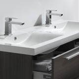 Vasque double 144 cm en marbre de synthèse