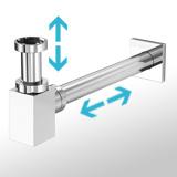 Siphon ajustable pour vasque et lavabo
